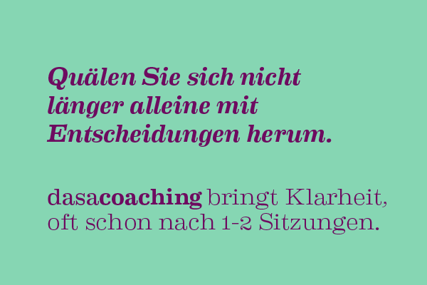 dasacoaching bringt Klarheit, Coaching